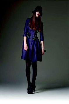 Blueberry Hues at Burberry Prorsum #velvet #fashion trendhunter.com
