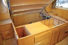 Under bed storage, they have these in motor homes etc mobile home small space bedroom organization