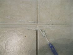 Accessorize and Organize: DIY Homemade Grout Cleaner Gonna have to try it on our rental. The living room grout is gross, although I am not sure what the original color is supposed to be, right now its different colors all over. Household Cleaning Tips, Household Cleaners, Diy Cleaners, Diy Cleaning Products, Cleaning Solutions, Cleaning Hacks, Grout Cleaning, Clean Grout, Homemade Products