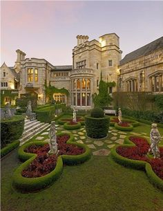 Tudor, San Francisco, California.  Usually don't like Tudor style, but this house, built in the 90s, the detailing, grounds, etc. are gorgeous Looks like an old French or English summer home.