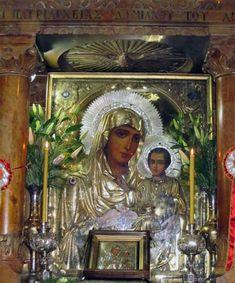 Ο τάφος της Παναγίας στην Γεσθημανή Orthodox Icons, Mother Mary, Virgin Mary, Miraculous, Holi, Saints, Blessed, Heaven, Angel