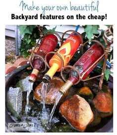 6 secrets to creating gorgeous backyard features on the cheap! By Funky Junk Interiors for ebay.com