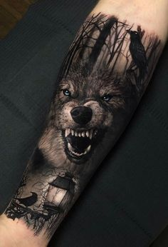 50 Of The Most Beautiful Wolf Tattoo Designs The Internet Has Ever Seen - aweso. - 50 Of The Most Beautiful Wolf Tattoo Designs The Internet Has Ever Seen – awesome wolf tattoo id - Wolf Tattoo Forearm, Forarm Tattoos, Cool Forearm Tattoos, Badass Tattoos, Body Art Tattoos, Small Tattoos, Cool Tattoos, Tattoo Wolf, Wolf Tattoos Men