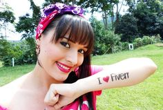 The beautiful koralyne will write your message on her hands, arms and chest, full color, full definition for $5 on fiverr.com