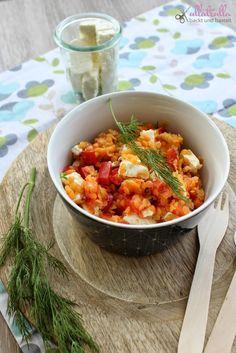 Fertig in zehn Minuten | Rezept für Rote-Linsen-Salat mit Feta