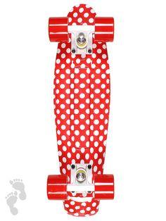 Retro Cruiser Skateboard 22inch Graphic Printed Red Ladybird Skate Board | twobarefeet.co.uk
