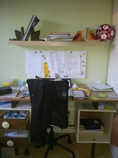 Je werkplek opruimen ... een belangrijk onderdeel van de cursus.