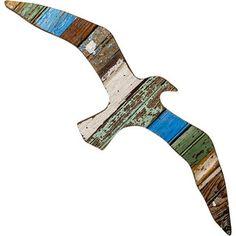 Coastal Wall Art from Reclaimed Molding - Seagull