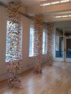 Candy Wrapper Mobiles  at Mass MOCA, North Adams, MA