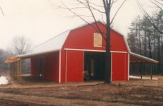 Building Dimensions: 36' W x 60' L x 12' H (ID#: 141) 36' Gambrel Trusses, 2' on Center, For More Details: http://pioneerpolebuildings.com/portfolio/project/36-w-x-60-l-x-12-h-id-141-total-cost-contact-us