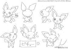 Pokemon Production Art! ポケットモンスターアニメ 設定稿・製作用資料・絵コンテ First Pokemon, All Pokemon, Cute Pokemon, Character Drawing, Character Design, Character Sheet, Cartoon Drawings, My Drawings, Concept Art Books