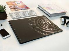 Sleek Portfolios 11x14 screw post portfolio Portfolio Ideas, Custom Logos, Black, Black People