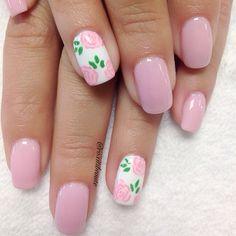 Instagram by roxitibeaute #nails #nailart #nail designs Spring Nail Art, Spring Nails, Summer Nails, Super Cute Nails, Pretty Nails, Short Nail Designs, Nail Art Designs, Holiday Nails, Simple Nails