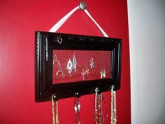 DIY Hanging Jewelry Holder - Aethetically pleasing, and very customizable to your needs