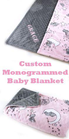 Elephant Baby Blanket, Minky Baby Blanket, Baby Girl Blankets, Pink Elephant, Lovey Blanket, Elephant Shower, Elephant Nursery, Baby Nursery Themes, Girl Nursery