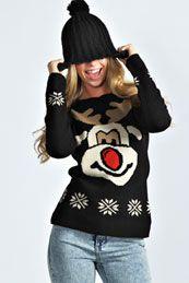 Rochelle Reindeer Christmas Jumper