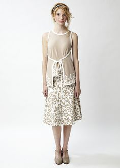3 | by alabamachanin The idea of a closely coordinated top and bottom, with matching motif, gives the effect of a continuous look (no black and white line at the waist or high hip) and yet is two pieces.