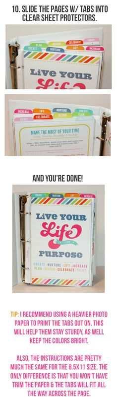 Live Your Life Binder