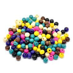 100 Kugel Holz Perlen bunt 10x9mm Mix rund Holzperlen Wood Spacer Bead | Holzperlen | Perlen |  günstig kaufen bei Bacabella.com | Perlen, Schmuck und Schmuckzubehör zum Schmuck selber machen | Schmuck basteln DIY DoItYourself | ganz individuell und einfach | Schmuckperlen