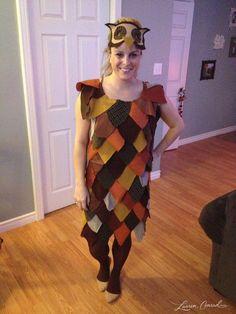 Halloween DIY: Patchwork Owl Costume