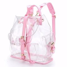 Women's Backpack Clear Plastic See Through Security Transparent Backpack Bag Ladies Travel Bag Ladies Bag mochila feminin 908 Clear Backpacks, Cute Backpacks, School Backpacks, Bag Women, Travel Bags For Women, Mochila Kpop, Transparent Bag, Hiking Bag, Shoulder Bags For School
