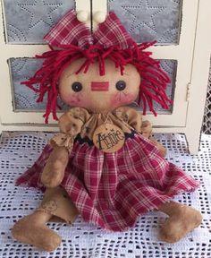 Raggy Dolls, Felt Dolls, Primitive Doll Patterns, Stitch Doll, Ann Doll, Clothespin Dolls, Raggedy Ann And Andy, Fabric Toys, Doll Crafts