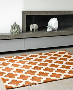Artisan Terra Rug, a 100% wool rug that is soft to the touch, thick & dense with dual height pile http://www.therugswarehouse.co.uk/orange-terracotta-rugs/artisan-terra-rug.html #rugs #wool #interiors