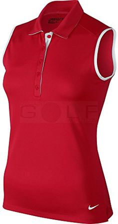Nike Golf Victory Colorblock Sleeveless Polo Womens (Medium, Team Crimson)   Special Offer: $26.99      300 Reviews Dri-Fit technologyStretch, 100% polyesterContoured seams and wide armholes for a natural, non-restrictive feel5-button placketSide vents at hem