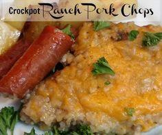 Crockpot Ranch Pork Chops :http://slowcookerkitchen.com/crockpot-ranch-pork-chops/