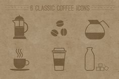 6 Coffee Shop Coffee Icons Set - http://www.dawnbrushes.com/6-coffee-shop-coffee-icons-set-2/