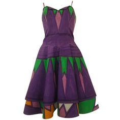 1960s Livio De Simone Multicolored Dress