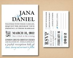 like the simplicity of all of this seller's invites, order PDF and have printed