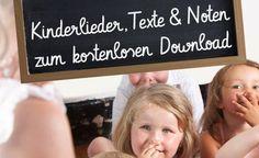 Kinderlieder Download: Texte, Noten & Lieder kostenlos herunterladen