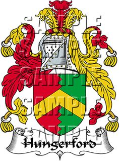 Hungerford Family Crest apparel, Hungerford Coat of Arms gifts