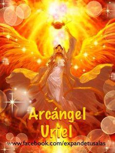 """Photo: ARCANGEL URIEL Uriel significa: """"Rostro de Dios. ó Fuego de Dios."""" También se le conoce como el Ángel de la Salvación. Es el Ángel del Arrepentimiento y de la Retribución. Virtudes que concede: Paz, Armonía, Provisión, Curación y la Gracia."""