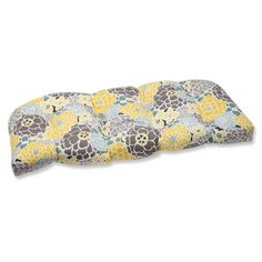 Relax in style and comfort on this weather and UV-resistant outdoor wicker loveseat cushion. Infused with a full bloom floral, this wicker loveseat cushion will be a charming and functional extension to your outdoor patio or sunroom. Outdoor Loveseat, Outdoor Cushions, West Elm, Living Room Decor Pillows, Living Rooms, Buy Pillows, Perfect Pillow, Blue Fabric