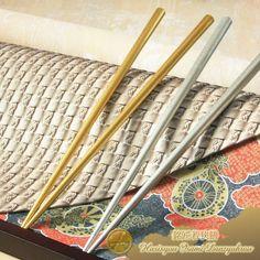 Traditional Craft Wakasa Nuri Bashi (lacquered chopsticks) Meisho Wakasa Zen (legend artisan Wakasa pair of chopsticks) KIsho Kogane Nishiki, Shiro Gane Nishiki (auspicious gold & silver brocade) one pair