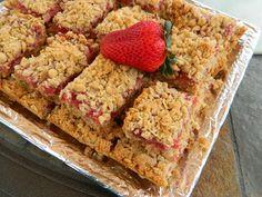 Adventures in My Kitchen: What's Baking: Strawberry Rhubarb Dessert Bars