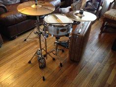 Suitcase Drum Set/Drum set/ suitcase kit/Minimalist drum set/ Paiste Cymbals/ Evans Drum heads/ Music room/ Drum room/JeffandMario