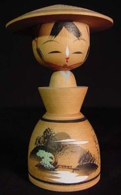 Vintage-Japanese-Kokeshi-Doll-Beautiful-Local-Scenery-B