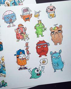 "Páči sa mi to: 4,449, komentáre: 119 – Vince Okerman (@vexx_art) na Instagrame: ""10 individual doodles ✍ Which is your favorite ?"""