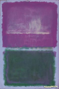 Untitled (lavender And Green) Artwork by Mark Rothko Hand-painted and Art Prints on canvas for sale,you can custom the size and frame