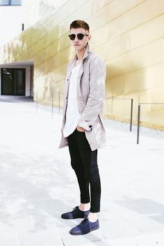 Burberry Brit Coat, Acne Studios Acne Tee, Acne Studios Acne Jeans, Cos Shoes