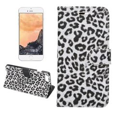 [$2.59] For iPhone 7 Plus Leopard Texture Horizontal Flip Leather Case with…