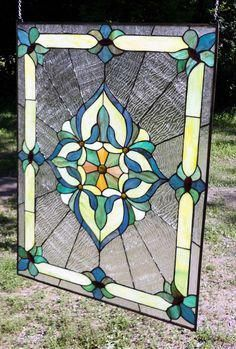 Bluebird Painted//Stained Glass Panel C-059