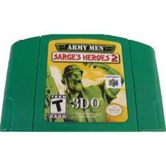 Army Men Sarge's Heroes 2 Green Varient - N64 Game Nintendo 64 Games, Original Nintendo, Army Men, School Games, Game Sales, My Memory, Childhood Memories, Nostalgia, Kids
