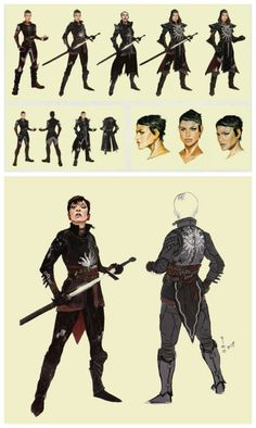 Cassandra concept art in The Art of Dragon Age: Inquisition < I think I take Cassandra everywhere I go in Thedas xD