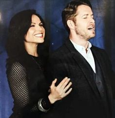 Awesome Lana and Sean (Regina and Robin) being funny #OnceConVan2016 #Vancouver BC #Canada Sunday 3-6-16