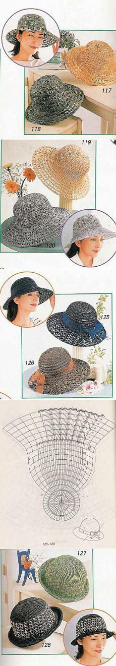 Летние шляпки вязаные крючком