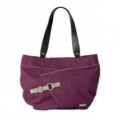 Debbie's lightly-textured faux leather in medium orchid purple will make your heart beat a little faster. When you see this Demi Shell's whimsical contrasting stitching detail, unique design and perfectly-placed grey buckle accent, you'll completely fall in love! Debbie turns a casual outfit into a real head-turner. Bright purple back zippered pocket. Streamlined design with oval bottom. *Miche Canada* #miche #michecanada #michefashion #fashion #style #purses #handbags #accessories